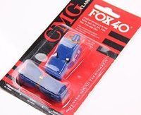 Wholesale dhl fedex new fox whistle emergency whistle WITH LANYARD in card Blister packing FOX40 whistle