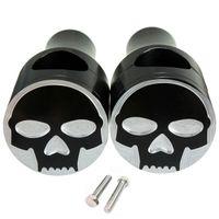 Wholesale Motorcycle Skull Aluminum inch mm Handlebar Clamp For Harley Cruisers Bar Risers