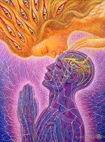 animal muse - Alex Grey Kiss of the Muse Surrealism canvas art giclee print picture x24 quot