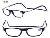 Wholesale pieces New fashion magnetic reading glasses CLIC like plastic folding reading glasses accept mixed order