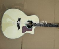 Wholesale Top Quality new ce acoustic Solid spruce guitar ce natural Acoustic Guitar In Stock with logo