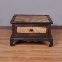 asian coffee tables - Thai crafts Southeast Asian wood bamboo and rattan coffee table decoration ornaments upscale coffee table Creative Environmental Technology