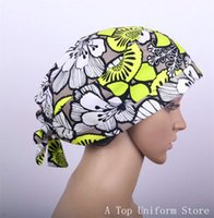 Wholesale New product surgical cap medical caps scrub caps for women doctors and nurse cotton adjustable length at back