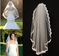 Crew ivory lace - Alencon Lace Veils fingertip With Comb veil re embroidered one layer bridal veil ivory lace veil scallop veil wedding bridal accessories
