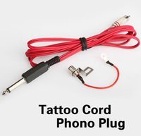Wholesale Tattoo Clip Cord Phono Plug Converter RCA Jack Kit For Tattoo Machine Gun High Quality