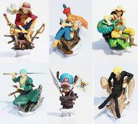 Multicolor anime - Anime One Piece Chess PIECE Figures Luffy Nami Usopp Chopper Sanji Chopper PVC Figure Toys set