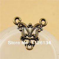 Wholesale A1150 new in Jewelry Findings Alloy Antique Bronze Cow Connector Accessories
