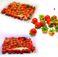 Wholesale Cheap but nice Simulation apple fruit vagetables home wedding Decoration pears orange Strawberries peach chili items for choose