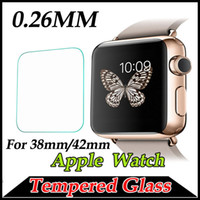 Wholesale 0 mm Tempered Glass H Proof Premium Protective Film Guard Smart Sport Watch Screen Protector for MM mm Apple Watch iWatch MOQ