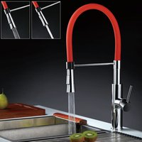 Wholesale 2015 New colorful kitchen FAUCET torneira cozinha white faucet water tap pull down water power kitchen faucet MIXER TAP