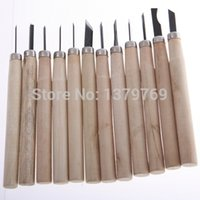Cheap 12Pcs Wooden Carving Hand Chisels Tools Kit For Carpenters Wood Turners with Package Woodworking knife burin