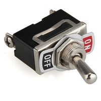 Wholesale 5Pcs set V Heavy Duty Toggle Flick Switch ON OFF Car Dash Light Metal SPST Volt Hot Selling