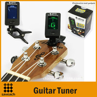 Wholesale High Quality Guitar Tuner Mini Digital LCD Clip on Tuner for Chromatic Guitar Bass Violin Ukulele C Ukulele D Musical Instrument