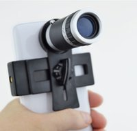 Wholesale Universal X Optical Zoom Telescope Camera Lens with Mini Tripod Holder for Mobile iPhone Plus S Samsung Galaxy S5 I9600