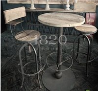 Wholesale Bar Cafe LOFT American country style retro to do the old rusty iron bar stool imitation manufacturers