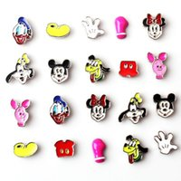 Wholesale Cheap Locket Charms - Mickey Charms Mixed 10 Designs Floating Lockets Charms High Quality Cheap China Charms