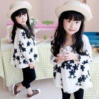 t shirt machine - 2015 Spring Latest Style Girls Hot Sale Childrens T Shirts Baby Girls Fashion Round Neck T Shirts Kids Machine Embroiders Flower T Shirts