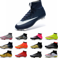 Wholesale 2015 Men s Mercurial Superfly FG CR7 Shoes Soccer Boots Cleats Laser Cheap High Quality Soccer Shoes Football Shoes Eur