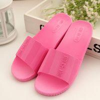 plastic slippers - 2015 new bathroom slippers home slippers indoor bath leaking slip plastic sandals and slippers female summer home
