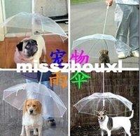 Wholesale Pet umbrella pet dog umbrella umbrella pet raincoat dog raincoat teddy is small dogs