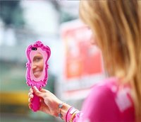 compact mirror - For Iphone5 Silicon Case Newest Fashion Magic Mirror Soft Silicone Rubber Case Magic Girl D Pink doll Compact Mirrors