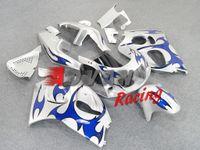 Wholesale Silver Blue Gsxr Fairings - Silver blue flame Injection molding custom painted fairing Suzuki GSXR 600 750 SRAD 1996-1998 7