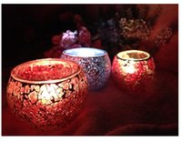 Wholesale European style simple modern handmade glass mosaic candle cup wedding props