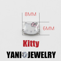 floating charms - 20pcs colors Hello Kitty Cat Floating Locket Charms For Glass Locket
