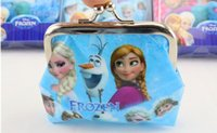 Wholesale Newest Girls D Cartoon Frozen peppa Sofia Princess Coin Purse with iron button shell bag Wallet Purses Children Gifts For Holidays free DHL