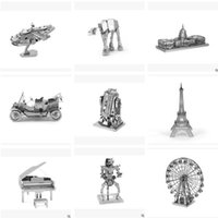 Wholesale Fascinations Metal Earth D Laser Cut Model Star Wars The Force Awakens d Metal Nano Puzzle Model Building Kits Toy for Adult and Kids