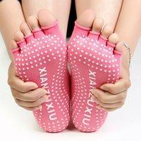 Wholesale NEW Sports Colorful Yoga Socks Toes fiver finger socks Women Pilates Socks Colors