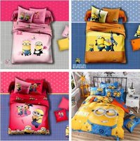 baby duvets - 100SET Cotton Baby kid Cartoon Despicable Me Minions Pattern Bedding Set bed linens bed cover duvet cover Home Textile