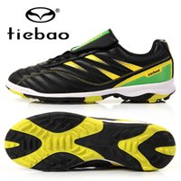 Wholesale TIEBAO Professional Outdoor Football Boots Athletic Training Soccer Shoes Men Women TF Turf Rubber Sole Shoes zapatos de futbol
