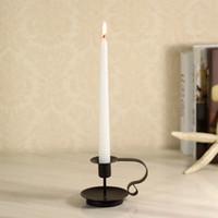 balls art work - European Style Black Candlestick Rod Candleholder Wrought Iron Candelabro Candle Furnishing Ornaments Dinner Wedding Prop
