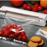 Wholesale Retail Food Vacuum Sealer Save Portable Reseal Airtight handy Plastic Food Saver Storage Bag Keep food fresh Resealer Closer Machine