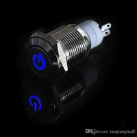 Wholesale Car Truck Boat DIY mm V Angel Eye Aluminum Metal LED Power Push Button Switch Flat Head Switches Colors A5