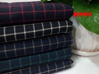 Wholesale Pf29 Fall winter sanding Cotton thick Plaid fabric TR suit fabric shirt fabric retail or
