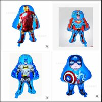 inflatable - Batman Captain America balloons for party Helium shaped cartoon foil Iron Man balloons Inflatable toys for kids styles G69