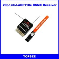 Wholesale 20pcs G ch rc transmitter receiver AR6110E DSM2 receiver simple packing AR8000 AR9020 for DX6I