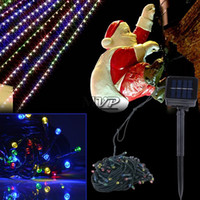 christmas lights color led - Promotion Multi Color Solar Powered LED Outdoor Garden String Party Fairy Lights Lamp B6 SV004705