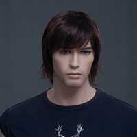 Wholesale New fashion in Europe and America male hair Natural Dark Brown Color Men s Short Hair Wig