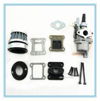 Wholesale HP fibre carbon reed and carburetor kit for stroke cc cc engine Mini Pocket Bike Dirt Bike and ATV Quads