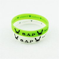 absolute logo - KPOP Fan B A P Best Absolute Perfect BAP Team Logo Noctilucent Sport Silicone Friendship Wristband Bracelets Y2298