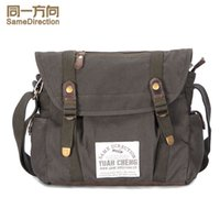 Wholesale TSD Compact Canvas Messenger Bags and Commuter Bags for Men and Women with Comfortable Shoulder Strap khaki freeshipping