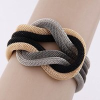beautiful crossover - 2015 Elegant Temperament Beautiful Concise Knitting Compile Package Cross Bracelets Wrap Crossover Bracelet Women