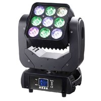 9 * 10W 3x3 Pixel Panel RGBW 4 en 1 Contrôle DMX512 Led Matrice Poutre Moving Head lumières de scène Professional Lighting