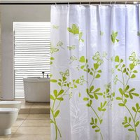 Wholesale Butterfly Tree PEVA Bathroom Waterproof Fabric Shower Curtain With Hooks V1NF