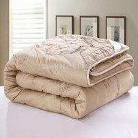 Wholesale Brown comforter quilted king queen camel hair or winter bedding blanket comforter Quilt Duvet Throw Blanket