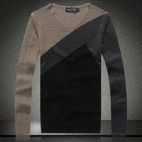 Wholesale Quality Men Sweaters pullover slim fit Color Hit Casual Sweater Man Autumn Spring New Korean Style Mercerized Cotton
