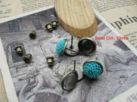 Wholesale 20pcs Antique Bronze Stud Earring Back Earring Base Blank mm Vintage Earring Components